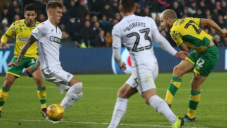 Teemu Pukki notched his 11th Norwich City goal of the season to seal a 4-1 win at Swansea City Pictu