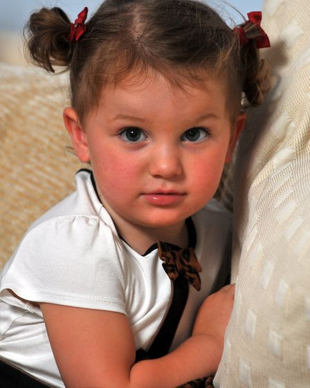 Two-year-old Felicity Carrigan. Photo: Bill Smith