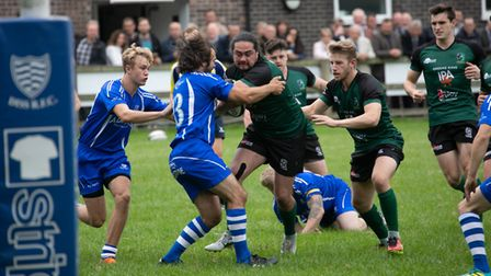 Diss, pictured in action against neighbours North Walsham earlier in the season, appear to be gettin