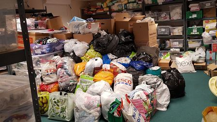 New donations ready for sorting Picture: Baby Bank Norfolk