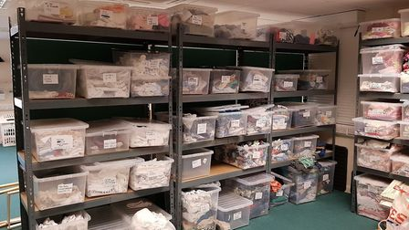 Boxes ready to be topped up with new donations Picture: Baby Bank Norfolk