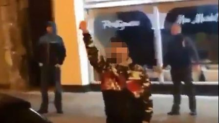 A man was filmed with a knife in Great Yarmouth. Picutre: Submitted