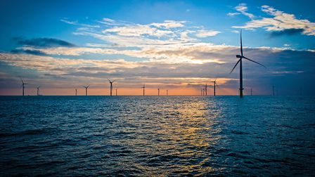 The London Array offshore wind farm. Picture: