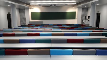 The Elizabeth Fry lecture theatre at the University of East Anglia, which has been upgraded as part
