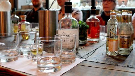 The table set for the tasting at Bullards Gin Distillery Tour. Photo: Emily Revell