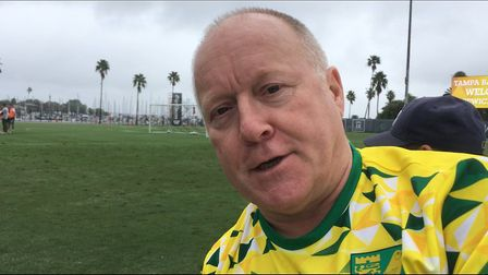 Paul Green won a competition run by Visit Tampa Bay and won the chance to follow Norwich City during