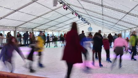 Skaters enjoying Norwich Ice Rink. Picture: Archant