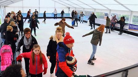 Skating at the Norwich Ice Rink at Castle Mall Gardens. Picture: DENISE BRADLEY.