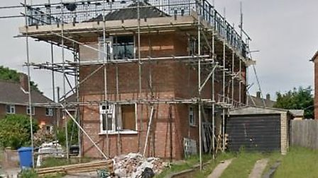 The first floor extension was built above a garage at the home in Ruskin Road, Norwich. Pic: Google.