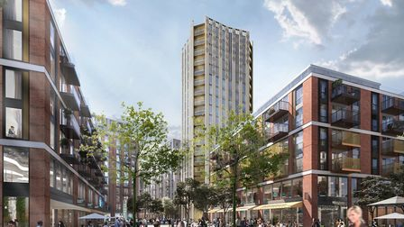 The current plan, which includes a 20-storey tower in Anglia Square. Photo: Weston Homes
