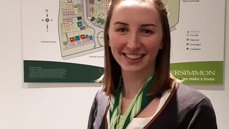Philippa Doran, nominated by Persimmon Homes Suffolk as the company's national Sales Trainee of the