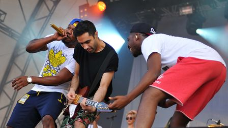 Rudimental at Latitude 2014. Picture: Paul Bayfield