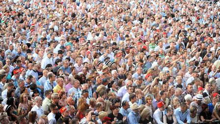 Crowds at Newmarket Nights. Picture: Gregg Brown