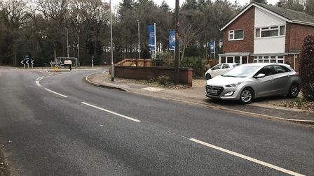 Stephen Jamieson claims the new roundabout outside his home has made his driveway unsafe to exit. Pi