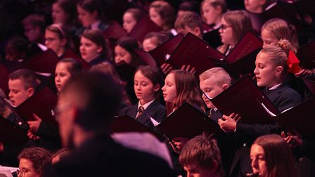 The event held at St Andrew's hall in Norwich featured readings, carols and music by pupils and staf