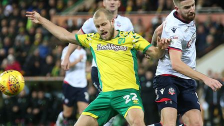 Teemu Pukki may come in for some close attention from the Bristol City defence Picture by Paul Chest