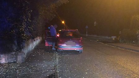 A man was arrested after police stopped a car on the A11 near Thetford. Pic: Norfolk police.