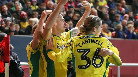Marco Stiepermann's excellent goal had fired the Canaries in front at Ashton Gate Picture: Paul Ches