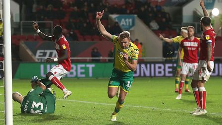 Jordan Rhodes thought he'd scored a late winner, only to see an offside flag Picture: Paul Chesterto
