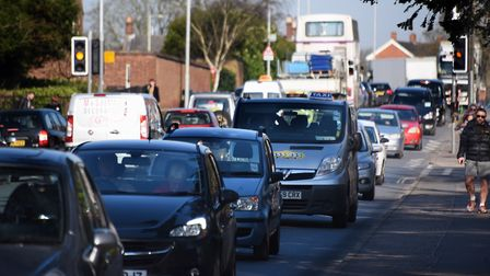Rush hour traffic in Colman Road. A new scheme aims to stop the congestion. Picture: DENISE BRADLEY
