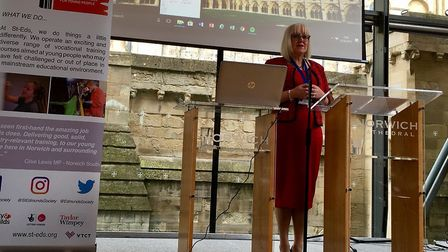 St Edmunds Society chief executive Lorraine Bliss speaking at the Alternative Provision: Pathways to