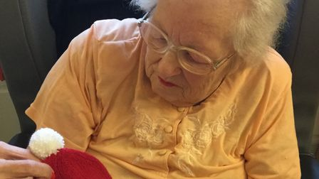 The 92-year-old, who resides at All Hallows nursing home, Ditchingham, in Bungay has been creating t