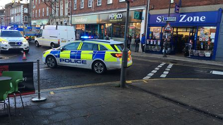 Police and ambulance were called to Dereham following an incident of a pedestrian being hit by car.