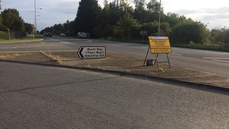 The site of the new roundabout in Thetford on the A1066. Picture: Rebecca Murphy
