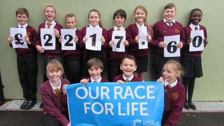 North Denes Primary School in Great Yarmouth raised £2,217.60 at its race for life event. Picture: N