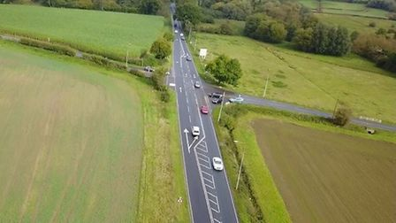 The existing stretch of the A140 near Long Stratton where there are plans for a new roundabout. Pict