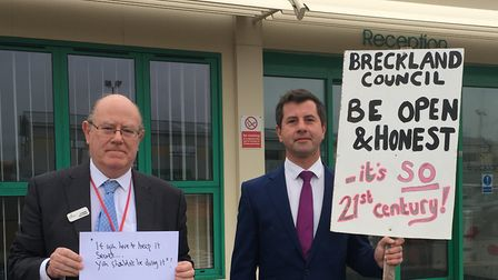 Cllr Pablo Dimoglou, right, has resigned from the Breckland Conservatives group. Photo: Jessica Fran