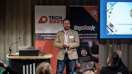 Neil Garner of Norwich company Thyngs at the Eastern Launchpad event in Cambridge. Picture: Emma Kin