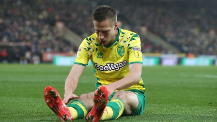 Marco Stiepermann of Norwich during the Sky Bet Championship match at Carrow Road, NorwichPicture by