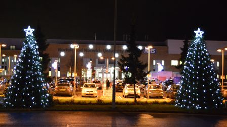 Christmas lights at the Norfolk and Norwich Hospital. Photo: NNUH