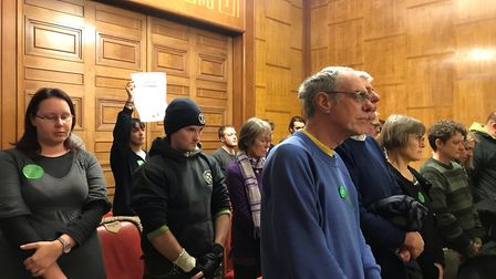 A council meeting was silence by activists from Extinction Rebellion Norwich in a plea for councillo