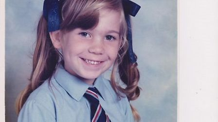 Charlotte Barber, aged seven, prior to her cancer diagnosis a year later. Photo: Julie Barber
