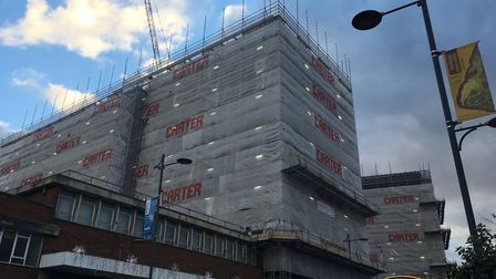 The former Aviva Towers in St Stephens Street are being converted into student accommodation. Pic: D