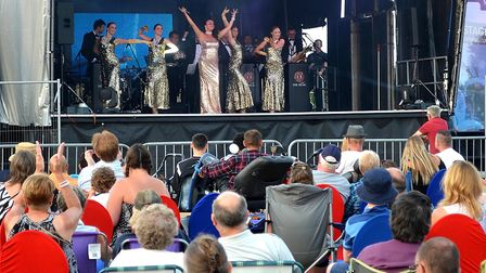Entertaintment at the Lowestoft Summer Festival on Royal Green. Picture: Mick Howes