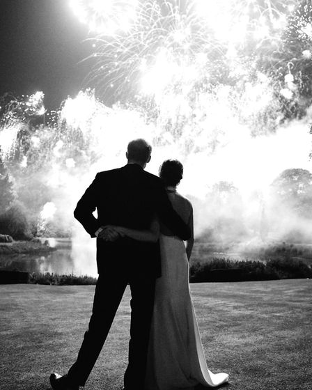 This photograph taken by Chris Allerton of the Duke and Duchess of Sussex at their Wedding Reception