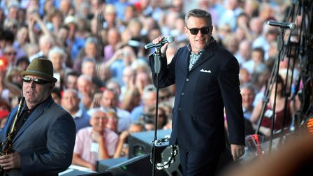Madness performing at Adnams Newmarket Nights.