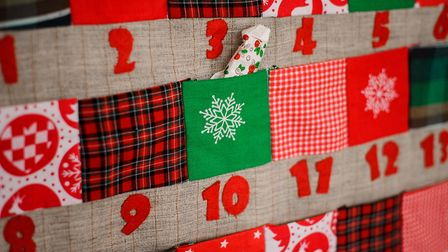 A fabric advent calendar is a great alternative to something you might find in the supermarket - jus