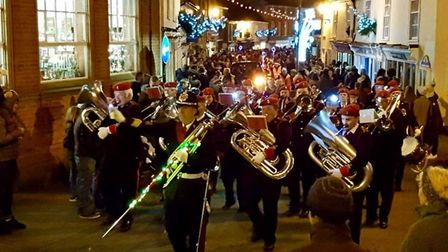 The streets of Halesworth sparkled as the town switched on their Christmas lights for the festive se