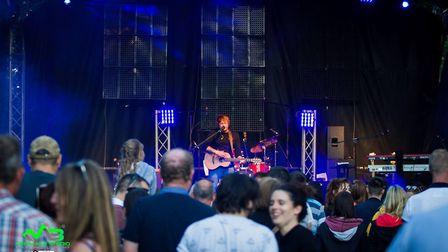The Ed Sheeran tribute act in Norwich. Picture: Mark Barley - Event Photography