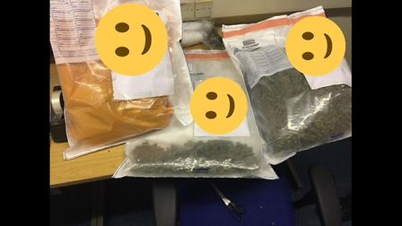 """Great Yarmouth Police arrested four people after they found a """"large"""" amount of cannabis following a"""