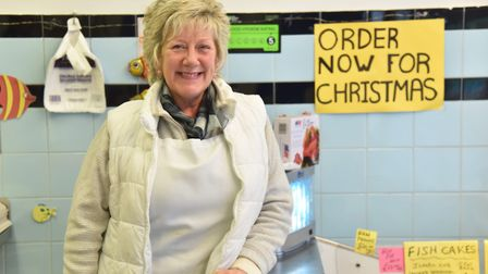Shirley Tyrrell, of S&J Seafood in Magdalen Street. Pic: Sonya Duncan.