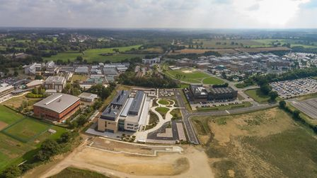 An aerial view of Norwich Research Park. Picture: Norwich Research Park.
