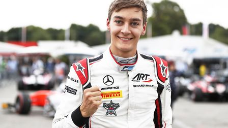 Can George Russell wrap up the F2 title in Abu Dhabi? Picture: Zak Mauger/FIA Formula 2