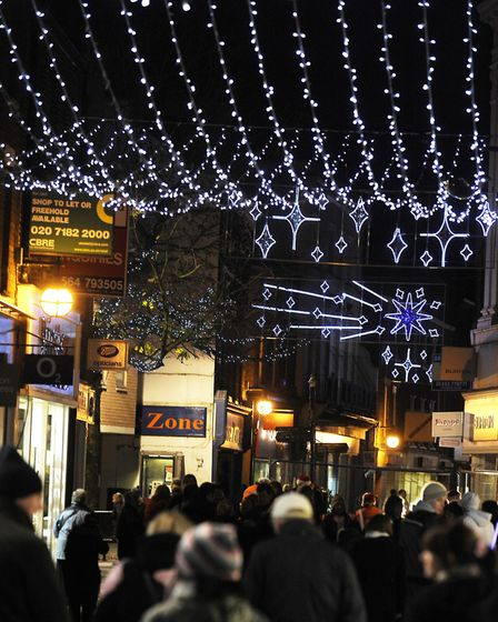 Christmas lights will be switched on across West Norfolk PHOTO; Matthew Usher