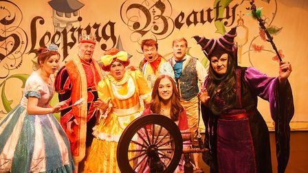 Some of this years panto cast will be helping to switch the lights on in King's Lynn. Pictured are (