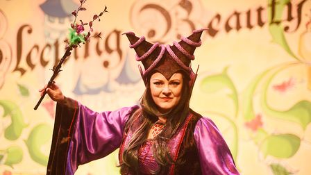 Evil Carabosse played by Victoria Bush in this years panto in King's Lynn, will be in the town all a